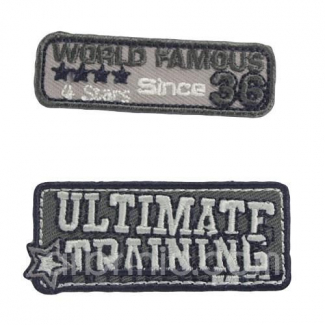 Iron-on Embroidery Patch Insigna (x2)