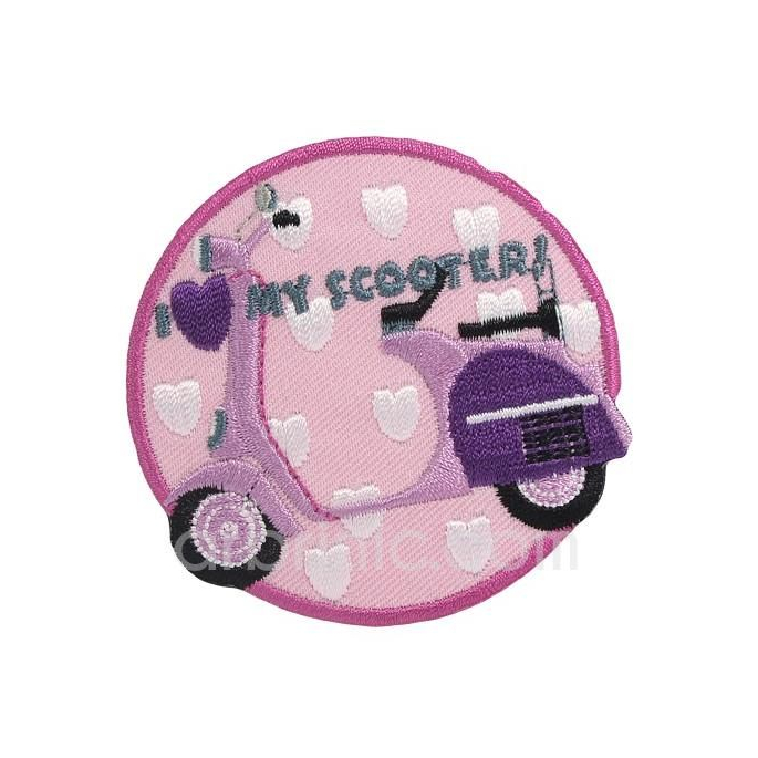 Iron-on Embroidery Patch Scooter