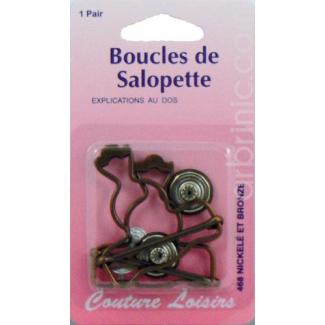 Boucles pour salopette 40mm Bronze (x2)