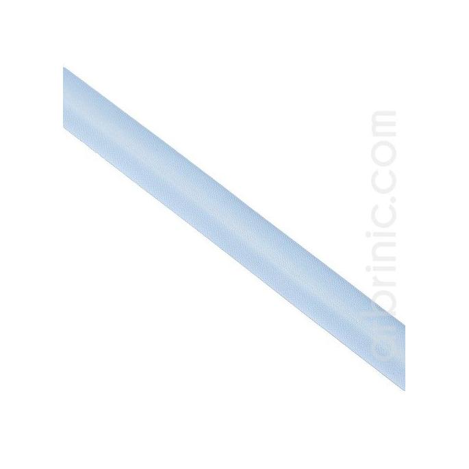 Satin Bias Binding 20mm Light Blue (by meter)