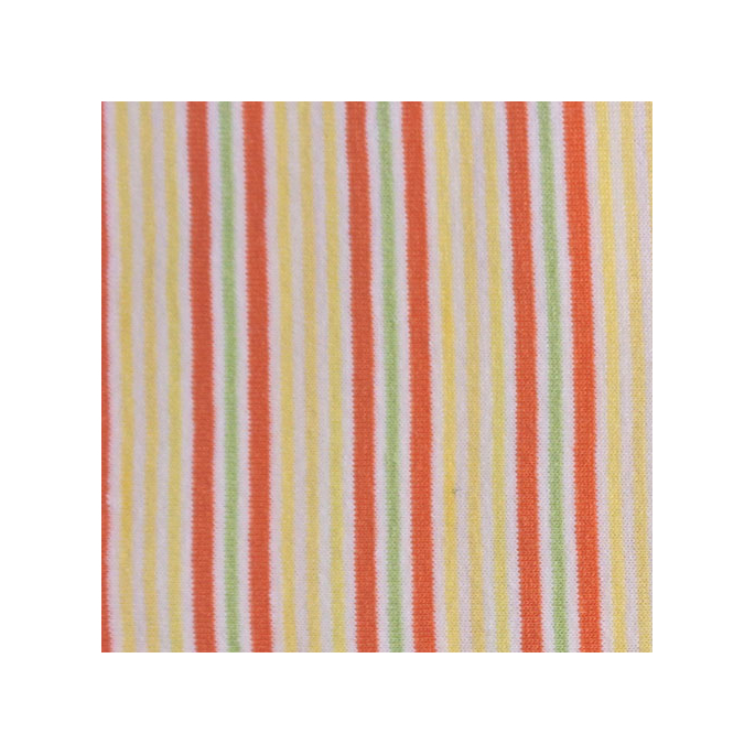 PUL Cotton - orange yellow stripe (50x55)