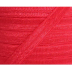 Shinny Fold Over Elastic Oekotex 15mm Red (by meter)