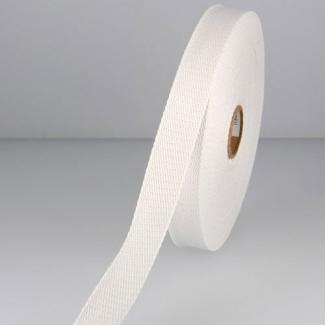 Sangle coton 23mm Blanc (bobine 15m)