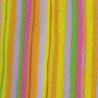 PUL coton - Rayure orange rose vert (50x55)