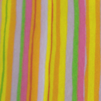 PUL Cotton -Green orange pink stripe(50x55)