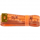Fiberglass Tape Measure with silicon band 150cm ORANGE