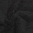Teddy Oekotex - Noir - laize 160cm (au mètre)