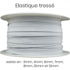 Braided Elastic White 6mm (50m roll)