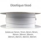 Elastique Tissé 7mm Blanc (bobine 25m)