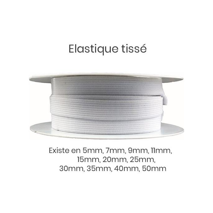 Woven Elastic White 40mm (25m roll)