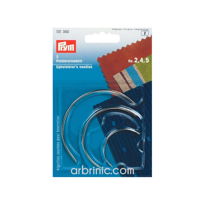 Curved upholster's needles Size 2,4,5 PRYM (x3)