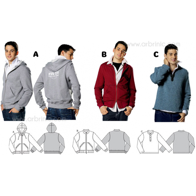 Burda Young 7734 Hoodies & T-shirt Pattern