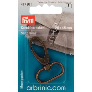 Snap hook 25x45mm Antique Bronze