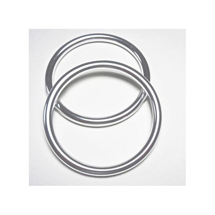 Sling Rings Shinny Silver Size M (1 pair)