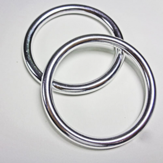 Sling Rings Shinny Silver Size S (1 pair)