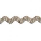 Croquet zigzag 6mm Taupe (bobine 50m)