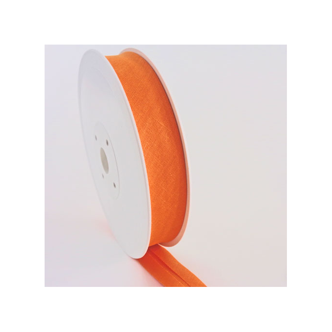 Single Fold Bias Binding 20mm Orange (25m roll)