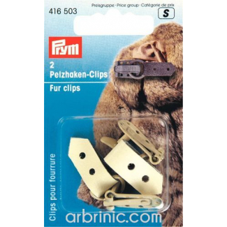 Fur Clips beige (x2)