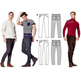 Burda Young 7138 Patron Jeans & Pantalon