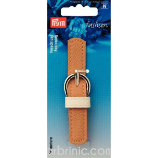 Leather imitation Strap Buckle Clasp Beige