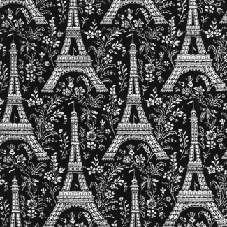Cotton - Paris Eiffel Tower - Michael Miller per 10cm