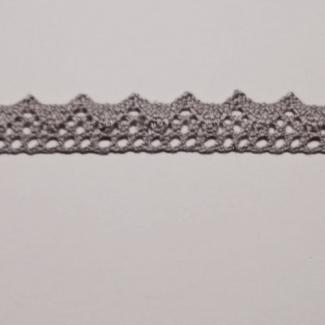 Dentelle 100% coton 15mm Gris (au mètre)