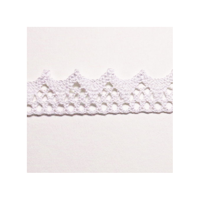 Lace ribbon 100% cotton 8mm White (by meter)