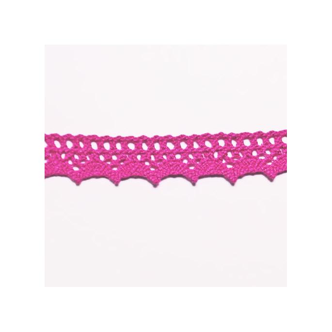 Lace ribbon 100% cotton 15mm Fushia (by meter)