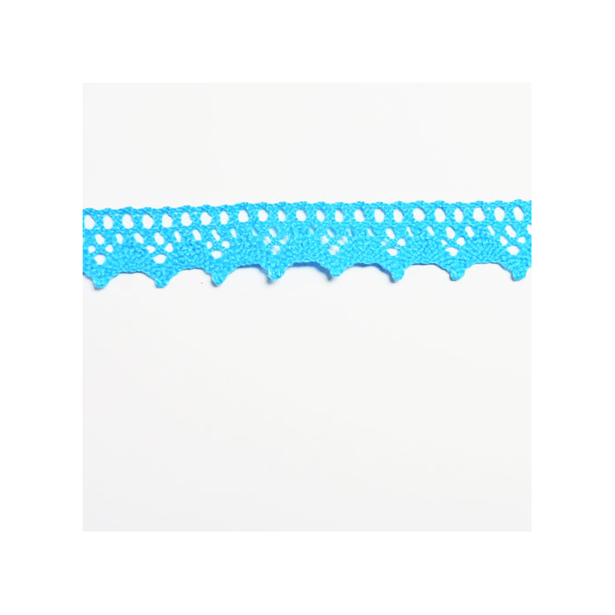 Lace ribbon 100% cotton 15mm Turquoise (by meter)