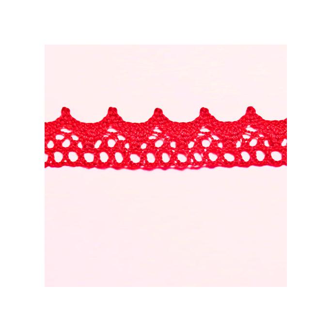 Dentelle 100% coton 15mm Rouge (au mètre)
