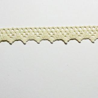 Dentelle 100% coton 8mm Ecru (au mètre)
