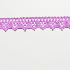 Lace ribbon 100% cotton 15mm Lilac (by meter)