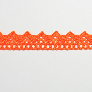 Dentelle 100% coton 15mm Orange (au mètre)