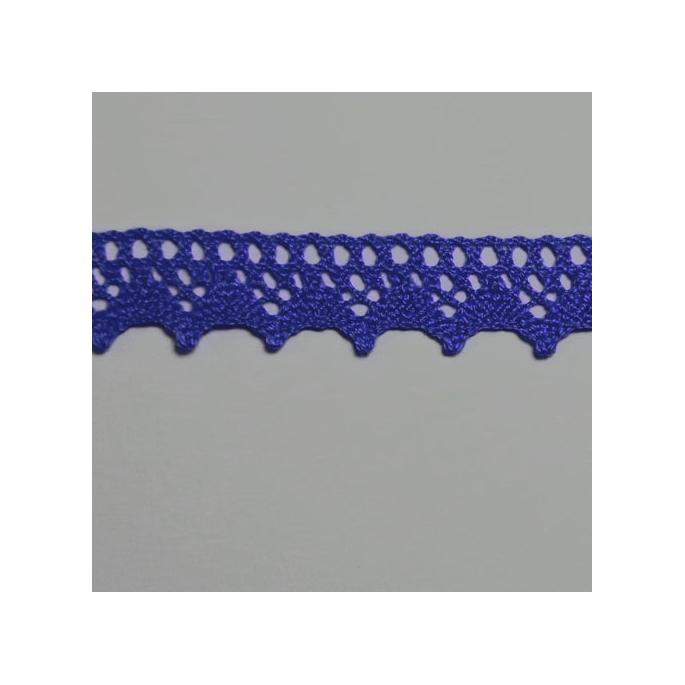 Dentelle 100% coton 8mm Bleu marine (au mètre)