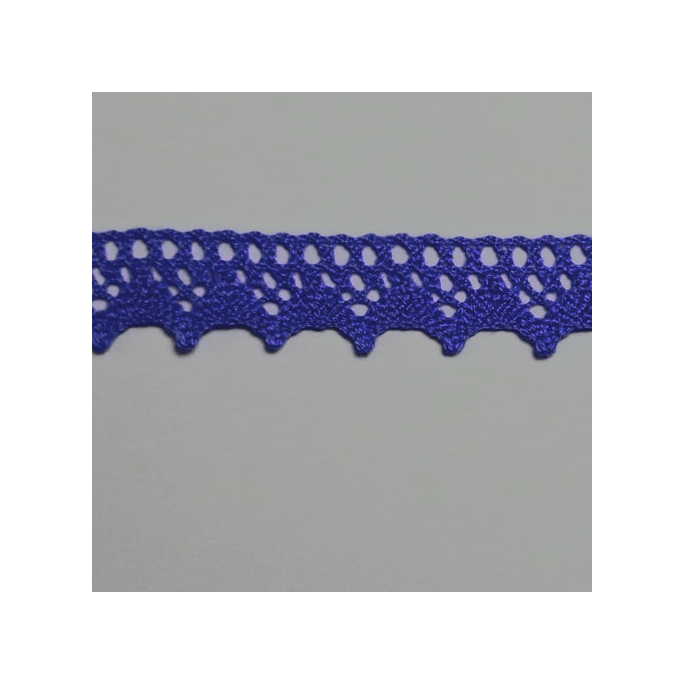 Lace ribbon 100% cotton 8mm Navy (by meter)