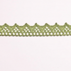 Lace ribbon 100% cotton 8mm Khaki (by meter)