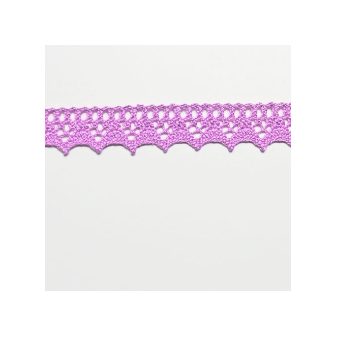 Lace ribbon 100% cotton 8mm Lilac (by meter)