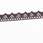 Lace ribbon 100% cotton 8mm Black (by meter)