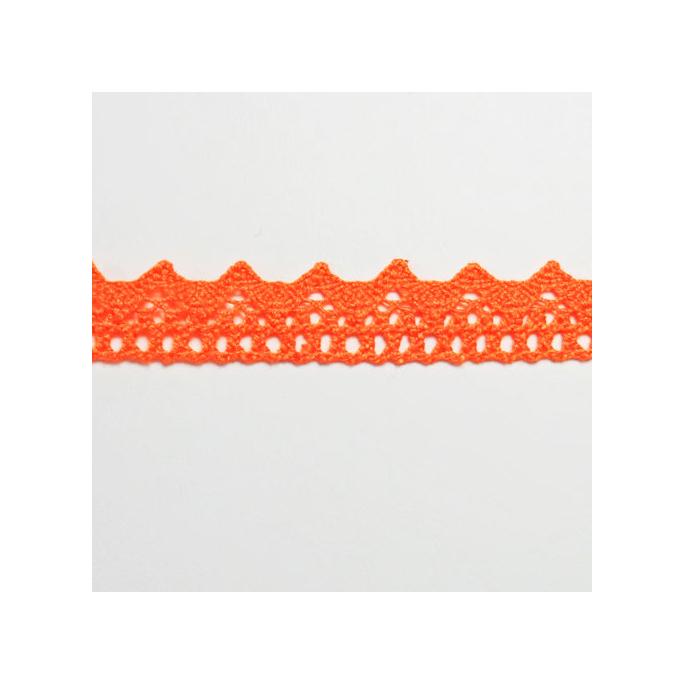 Dentelle 100% coton 8mm Orange (au mètre)