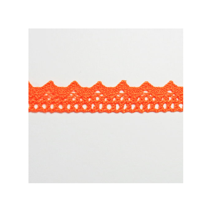 Lace ribbon 100% cotton 8mm Orange (by meter)