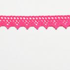 Dentelle 100% coton 8mm Rose Flashy (au mètre)