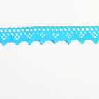 Lace ribbon 100% cotton 8mm Turquoise (by meter)