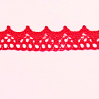 Lace ribbon 100% cotton 8mm Red (by meter)