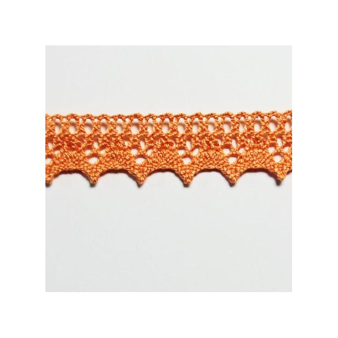 Lace ribbon 100% cotton 8mm Salmon (by meter)