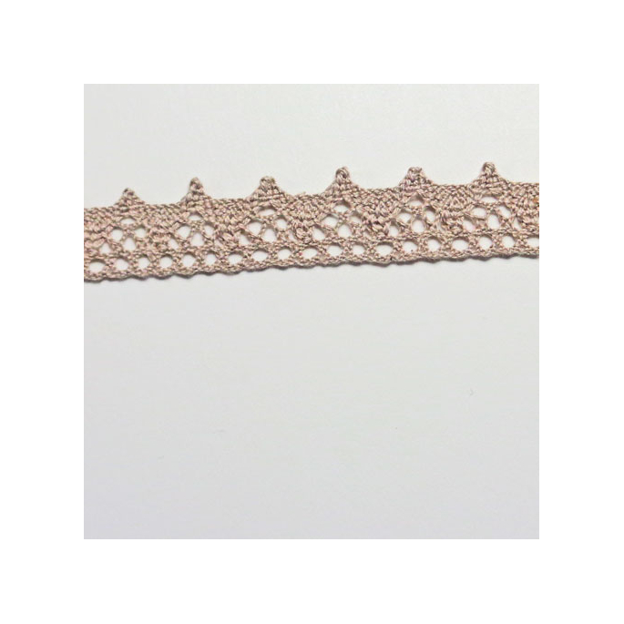 Lace ribbon 100% cotton 8mm Taupe (by meter)