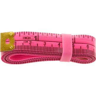 Centimètre couture souple avec élastique rangement 150cm ROSE