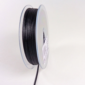Rat tail cord 3mm Black (by meter)