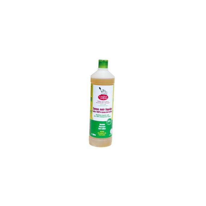 Savon noir liquide huile 100% lin bio (1 litre)