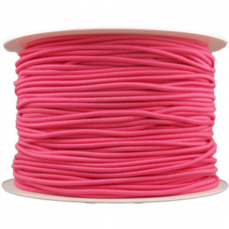 Thick Round Cord Elastic Pink (by meter)