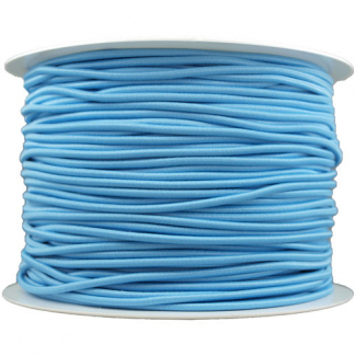 Thick Round Cord Elastic Blue (by meter)